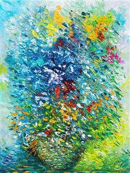 Uriy Bykov - Flowers Oil on Canvas, Paintings