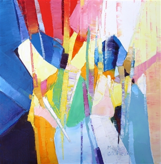 Monika Gloviczki - The Clown Oil on Canvas, Paintings