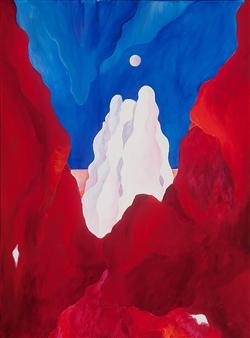 Jerry Anderson - Cappadocia 1 Star Ship Acrylic on Canvas, Paintings