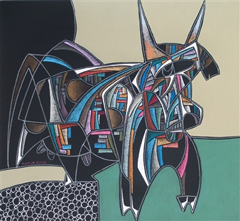 Alexander Ossipov (TOTUR) - Cow Mixed Media on Paper, Mixed Media