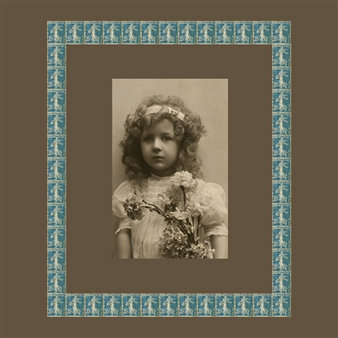 Wallace - Girl with Blue Stamps, circa 1920 Photographic Print on Fine Art Paper, Prints