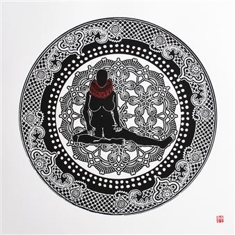 Linda Behar - Under The Ruff II Woodblock Print, Prints