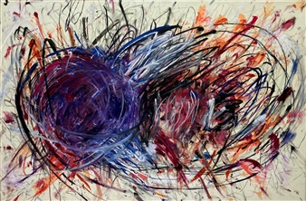 Ronnie Genotti - You Tangle My Emotions Oil on Canvas, Paintings