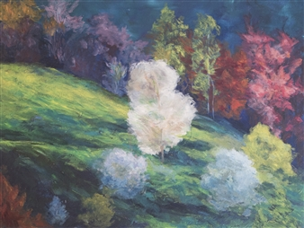 Margaret Adams - Spring Morning Oil on Canvas, Paintings