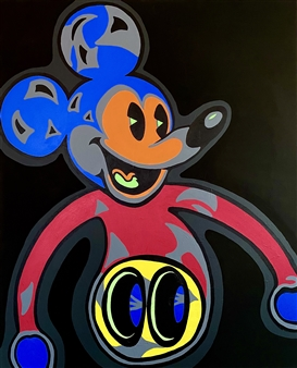 Gianpiero Palermo - Multicolor Mickey Acrylic on Canvas, Paintings