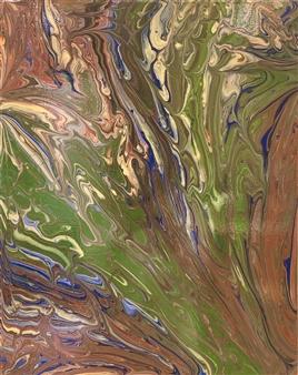 Deeya Mirchandani - Sage Acrylic on Canvas, Paintings