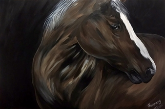 Rosemery Torres - The Horse Acrylic on Canvas, Paintings