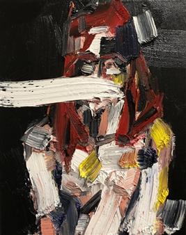 Nick Bautista - Portrait of Christine, 1 Oil on Canvas, Paintings