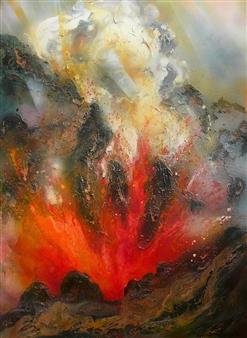 Caroline Degroiselle - Brightness of Fire, Brightness of Life Acrylic on Canvas, Paintings