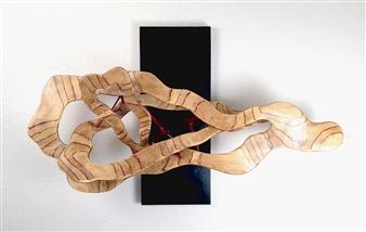 John Mark Luke - Interaction of Thought III Mixed media-metal and wood, Sculpture