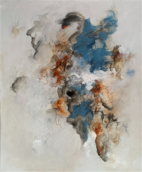 Alissa Van Atta - Truth Decay Acrylic & Oil Pastel on Canvas, Paintings