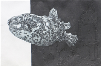 Juan Salazar - From the Series Contracorriente 10 Collograph, Prints