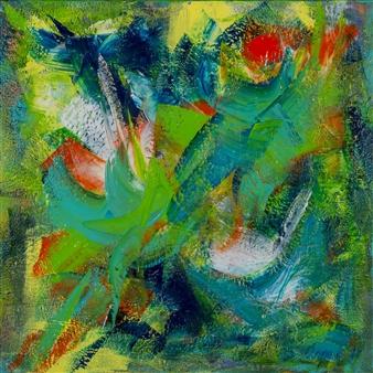 Katja van den Bogaert Anna K Art - Liberation of Energy Acrylic on Linen, Paintings