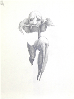 Larry Greenberg - 1996 4-6 Pencil on Paper, Drawings