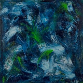Anna K Art Katja van den Bogaert - Magic Water Acrylic on Linen, Paintings