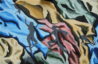 Di Stefano - Ombre 2 (Shadows 2) Acrylic on Wood, Paintings