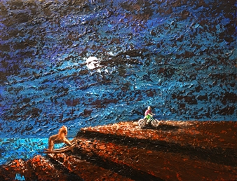 Frank M. Alba - Adult Now Acrylic on Canvas, Paintings