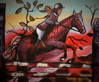 Erik Neimeijer - Jump Acrylic & Airbrush on Linen, Paintings