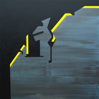 Marcos Joven - Málaga II Acrylic on Canvas, Paintings