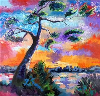 Lillian Gray - Clara's Tree Oil on Linen, Paintings