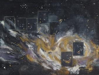Nancy Holleran - Entropy #2 Watercolor on Paper, Paintings