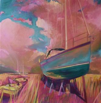 Julia Rowlands - Figurehead II Oil on Canvas, Paintings