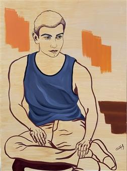 Elena Dobrovolskaya - Finding Myself Oil on Canvas, Paintings