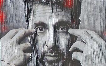 Alexander Pepe Roiz - Al Pacino Oil on Canvas, Paintings