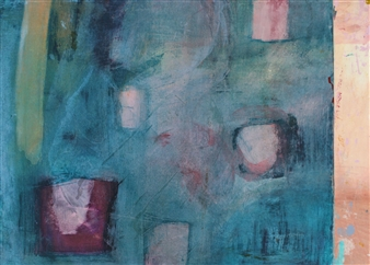 Laura Menzies - Abstract 2 Acrylic & Ink on Paper, Paintings