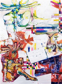 Michael Dolen - Morning in Guadeloupe Mixed Media on Paper, Mixed Media