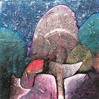 Saurabh Mohan - Excelsior 4 Acrylic on Canvas, Paintings