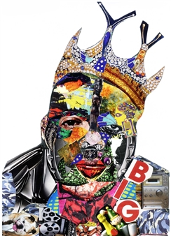GLIL - Notorious BIG Paper/Collage, Mixed Media