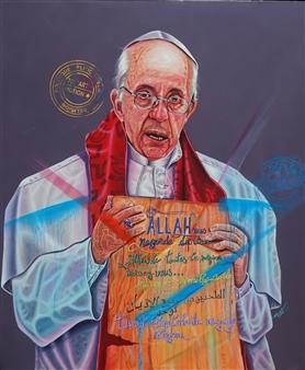 Roberto Tores Pare Mouamfon - Among US 2 Acrylic on Canvas, Paintings