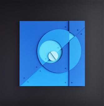 Cesar Garcia - Tiempo Axial Acrylic & Mixed Media, Mixed Media