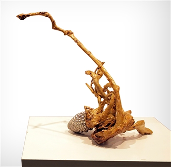 Javier Rivas - Escorpion Wood & Steel, Sculpture