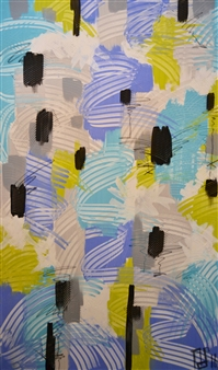Nancy Landauer - Mojito Acrylic & Oil Pastel on Canvas, Paintings