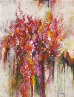 Stacie Hernandez - El Florecer Exotico Oil on Linen, Paintings