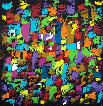 RAN - Togetherness Acrylic on Canvas, Paintings