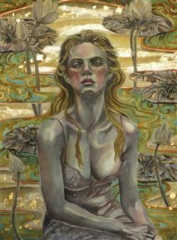 Yuki Goodman - Requiem II Watercolor & Ink on Paper, Paintings