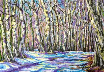 Uriy Bykov - Winter Acrylic on Canvas, Paintings