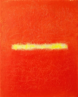 toNI Altenstrasser - Energy in Red Oil on Canvas, Paintings