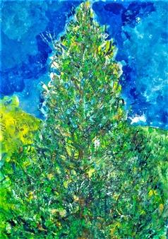 Elena Gastón Nicolás - Secuoya.Wellingtonia, Big Tree Sequoyah Acrylic on Canvas, Paintings