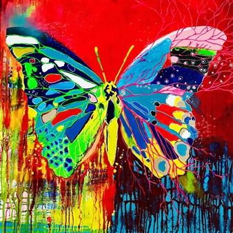 Grażyna Aneta Ochowiak - Color Transformation Acrylic & Mixed Media on Canvas, Mixed Media