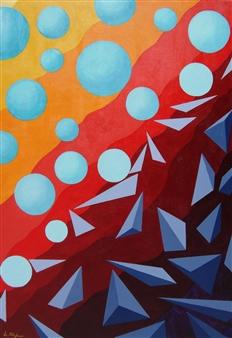 Di Stefano - Mutazioni Mentali (Mental Mutations) Acrylic on Wood, Paintings