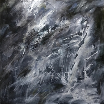 Terry Firkins - Orpheus Oil with Mixed Media on Canvas, Mixed Media