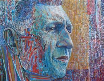 Alexander Ossipov (TOTUR) - Self Portrait Oil on Canvas, Paintings