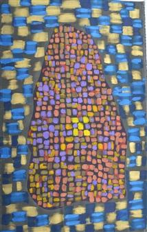 Carlos E. Porras M. - Amethyst Acrylic on Canvas, Paintings