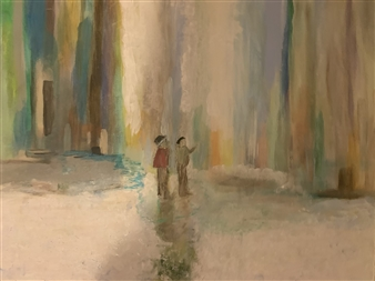 Jodi DeCrenza - Echoes of the Canyon Acrylic & Oil on Canvas, Paintings