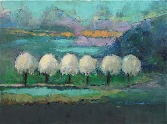 Becky Sungja Kim - On the Road Oil on Canvas, Paintings