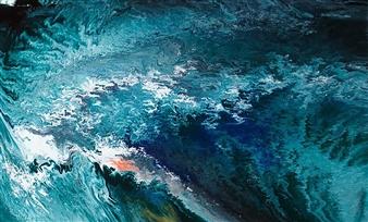 Alla Struchaieva - Deepness of the Lagoon Oil on Canvas, Paintings